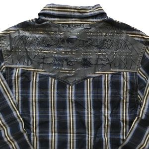 BUFFALO David Bitton L/Sleeve Metal Snap Shirt!  L